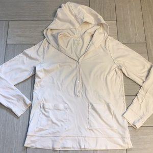 JCrew Tissue Henley Hoodie Cotton S
